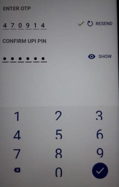 CONFIRM UPI PIN