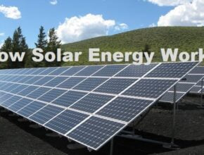 How does work solar energy