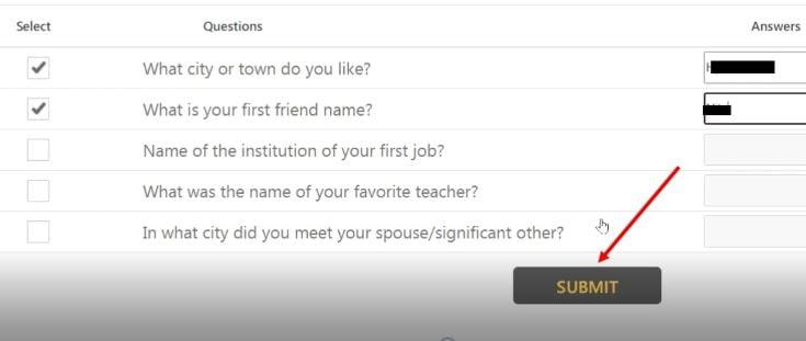 Secret question for Indian bank Net banking Online registration