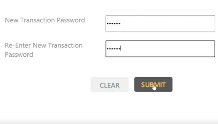 How to Create Transaction Password
