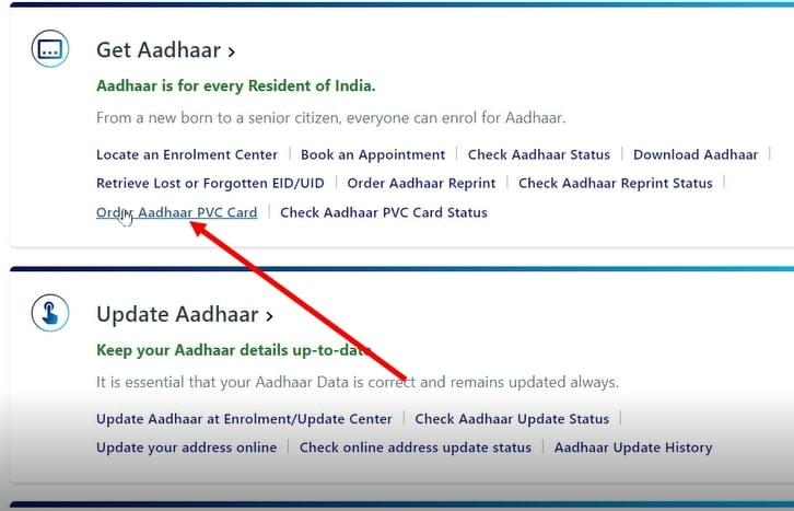Order Aadhaar PVC Card Online