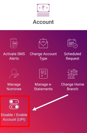 How to Enable/disable UPI  in Yono SBI