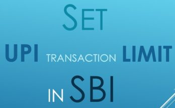 How to set the UPI transaction limit in SBI