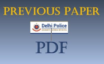 Delhi Police Previous Year Papers