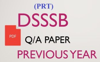 DSSSB PRT Previous Year Question Papers with Answers pdf