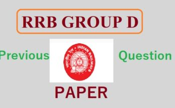RRB Group D Previous Year Question Paper