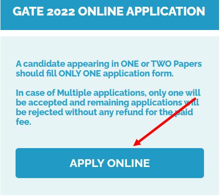 GATE 2022 Apply Online