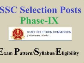 SSC Selection Post Phase 9 Notification